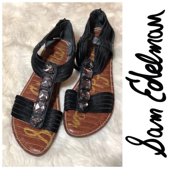 ff9db770a   Sam Edelman   Black Galina Gladiator Sandals. M 5ae13a9145b30cd72483d287